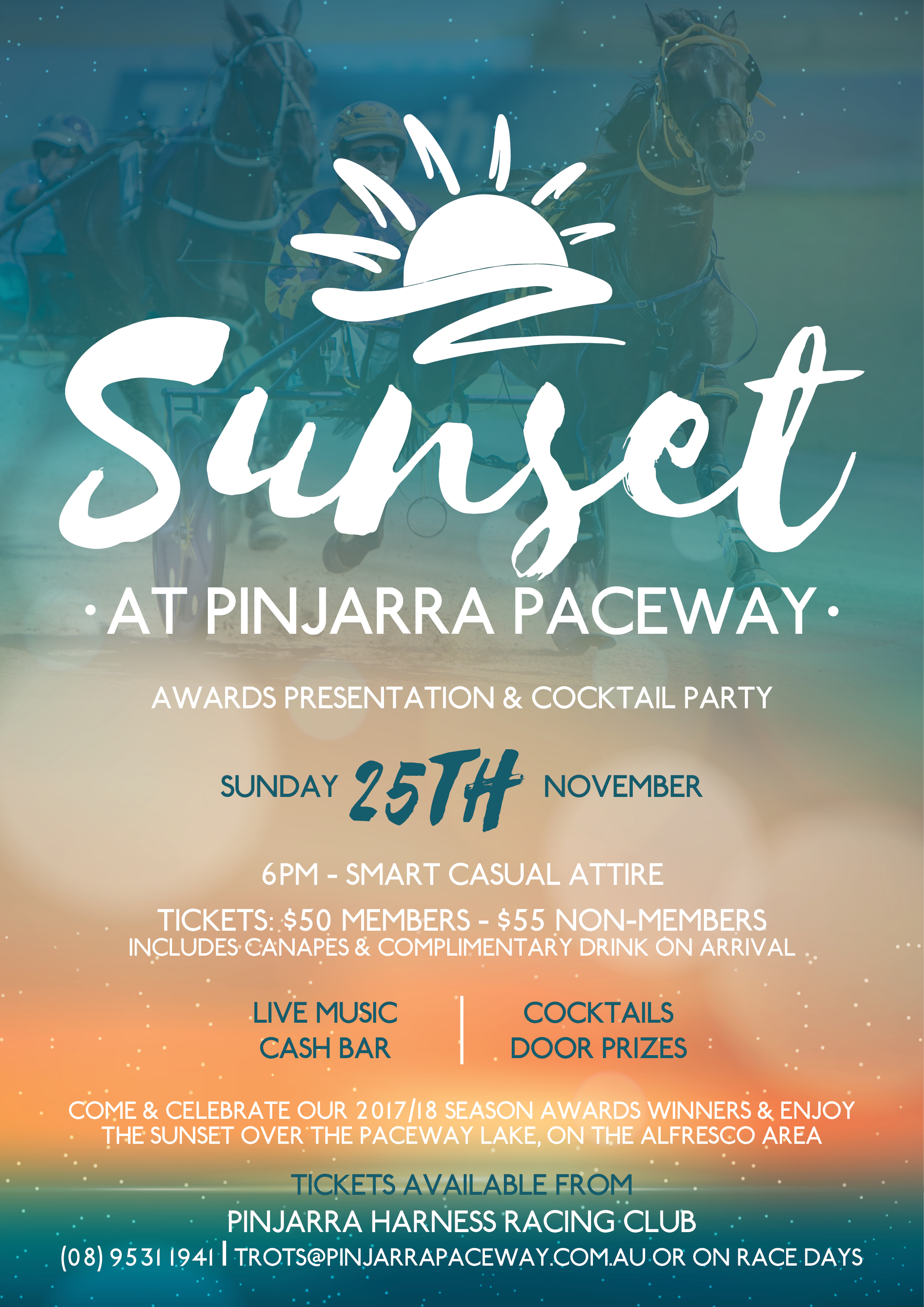 awards night save the date pinjarra paceway